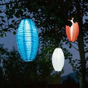 Lanterna chinesa movida a energia solar