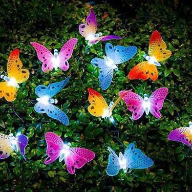 Luz da corda da borboleta das energias solares