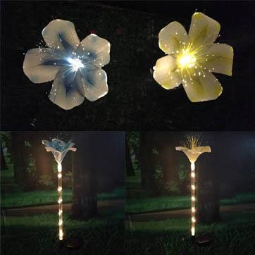 luz da decoração da flor da fibra óptica