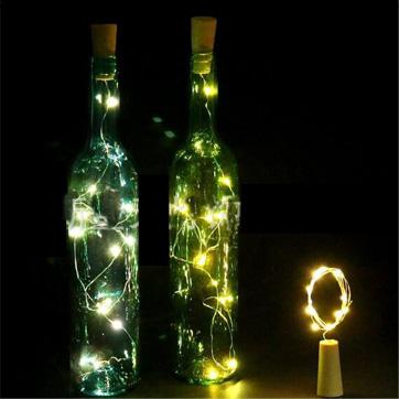 luz da corda da cortiça da garrafa