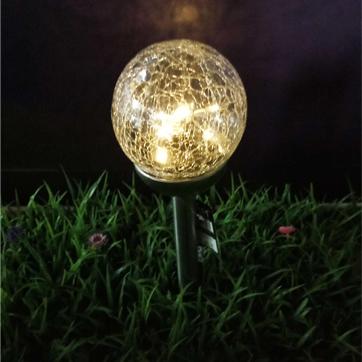 luz solar da corda da bola de vidro